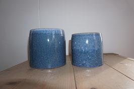 Keramikübertopf blau Nr.68