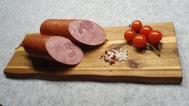 Münschers 1953er Schinkenwurst - geräuchert im Naturdarm