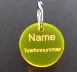 Anhänger fürs Halsband mit Name und Telefonnummer