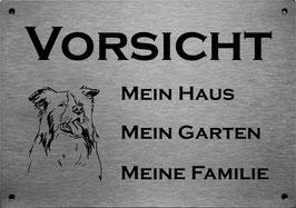 """lasergraviertes Edelstahlschild Colli """" Mein Haus..."""""""