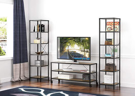 Rustic TV Stand with Wheels