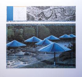 Christo Blaue Schirme III