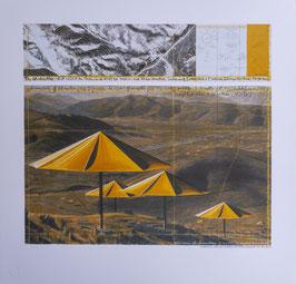 Christo Gelbe Schirme III