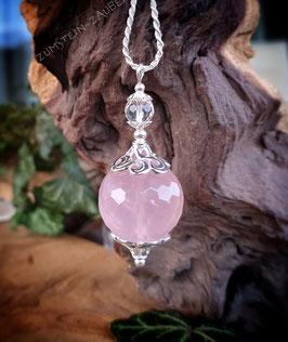 Rosenquarz und Bergkristall ZauberKugel
