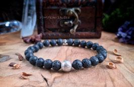 Lava und Meteorit Armband