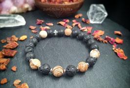 Lava und Landschaftsjaspis Armband