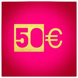 50€ Gutschein