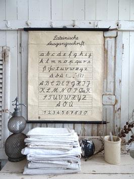 VERKAUFT Kah 31.12. Lateinische Ausgangsschrift - sehr alte Schulwandkarte