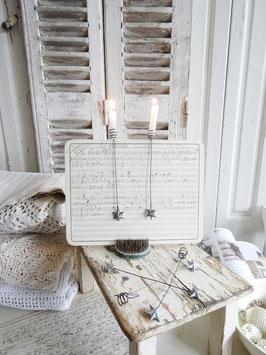 Antiker Kerzenhalter / Pendelhalter STERN