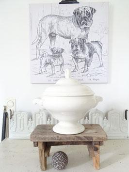 imposante uralte Terrine - weiße Keramik - SOCIETÉ CERAMIQUÉ MAESTRICHT