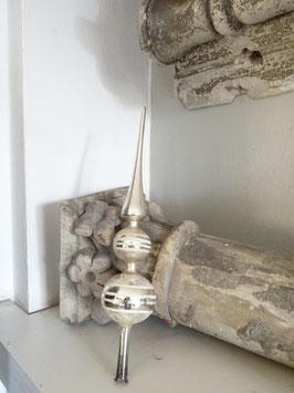 29,5cm uralte Baumspitze silber weiß