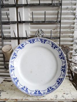 30cm VorlagenTeller Keramik St.Amand Blaudekor