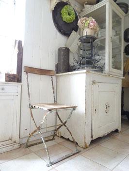 Sehr alter stabiler Klappstuhl Gartenstuhl - restauriert - grandiose Patina