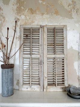 120cm antikes PAAR franz Fensterläden - traumschöne Patina