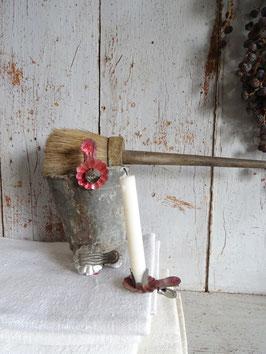3erSet antike Kerzenhalter ROT