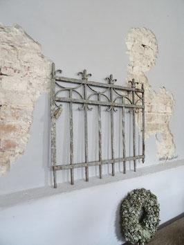 antike Zauntür / Gartentür - Traumteil mit grandioser Patina - alte graue Anstriche