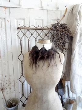 Schafwolle 170gr für die Deko dunkelbraun