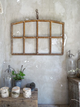 66cm antikes Gußeisen-Fenster mit Rundbogen