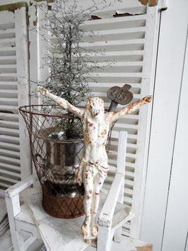 antiker Jesus Gußeisen aus Frankreich