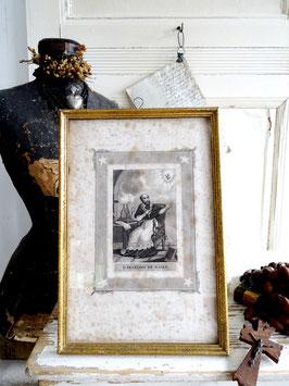 antiker Stich SAINT FRANCOIS DE SALES aus Frankreich