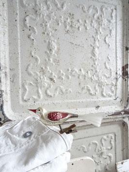 Glasvogel uralt mehrfarbig - dunkelbraun-weiß