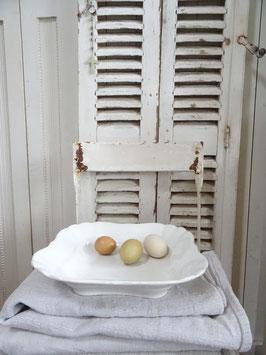 Uralte Beilagenschüssel weißes Porzellan KPM