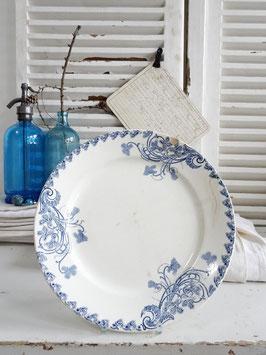 28cm VorlagenTeller Keramik LG VIOLETTES Blaudekor