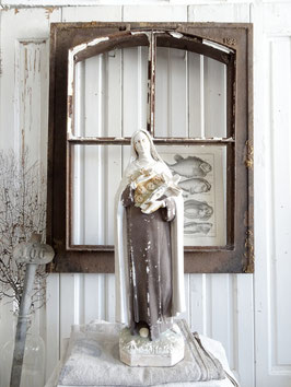 VERKAUFT Neu 31.01.   42cm THERESE von LISIEUX Madonna Heiligenfigur - grandiose Patina