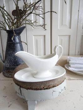 Drachenkopf GIENantike Sauciere cremeweisse Keramik