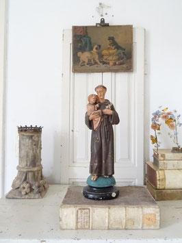 44cm traumhaft schöne antike Heiligenfigur - Vater & Sohn