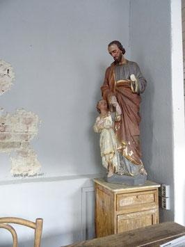 136cm antike Heiligenfigur aus Belgien