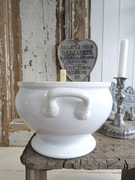 Antike große Terrine aus Frankreich Keramik