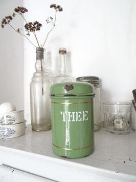 antike Vorratsdose THEE aus Holland (Tee) dunkelgrün