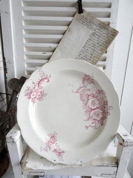 30cm antike Platte Rotdekor
