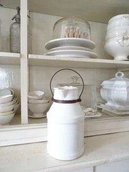 4L antike franz Milchkanne weiße Keramik