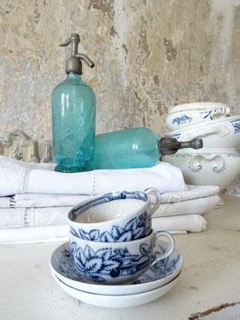 2xVERKAUFT Zul 20.08.   Kaffee-Set aus Frankreich - Keramik Blaudekor