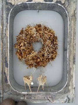 Kranz aus Hortensie & Tillandsie 30 cm