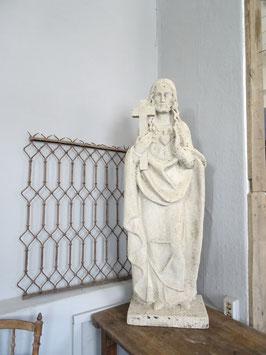 antike franz Steinfigur Heiligenfigur HERZ JESUS