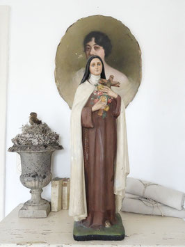 VERKAUFT Arn 29.03.   81cm antike franz Madonna - heilige Therese v. Lisieux