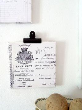 CELÉRITÉ französische Rechnung Leinwanddruck