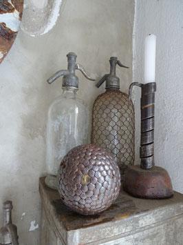antike BOULE Kugel aus Frankreich - genagelt - Wabennägel