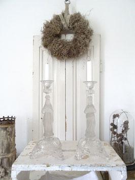 Maria/Jesus uralter Kerzenständer aus Belgien
