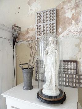 aus Belgien: antiker Glasdom 51cm