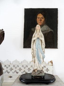 53cm antike LOURDES Madonna