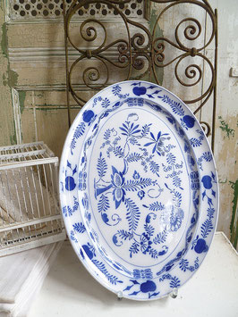 antike imposante Platte - Keramik mit Zwiebelmuster