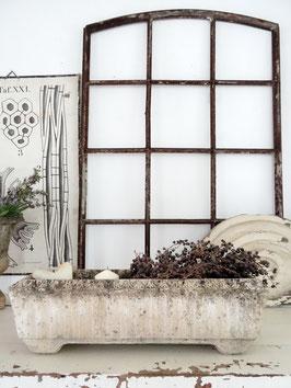 1xVERKAUFT Mos 13.09.   60cm uralter Blumenkasten aus Stein