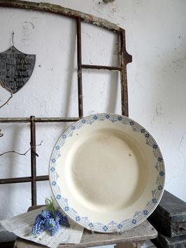 31cm antiker franz VorlagenTeller Keramik Blaudekor