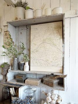 ORLEANS antike Landkarte auf Keilrahmen