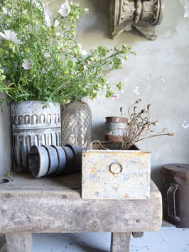 antike Schublade aus Metall