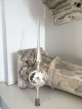 29 cm uralte Baumspitze silber weiß